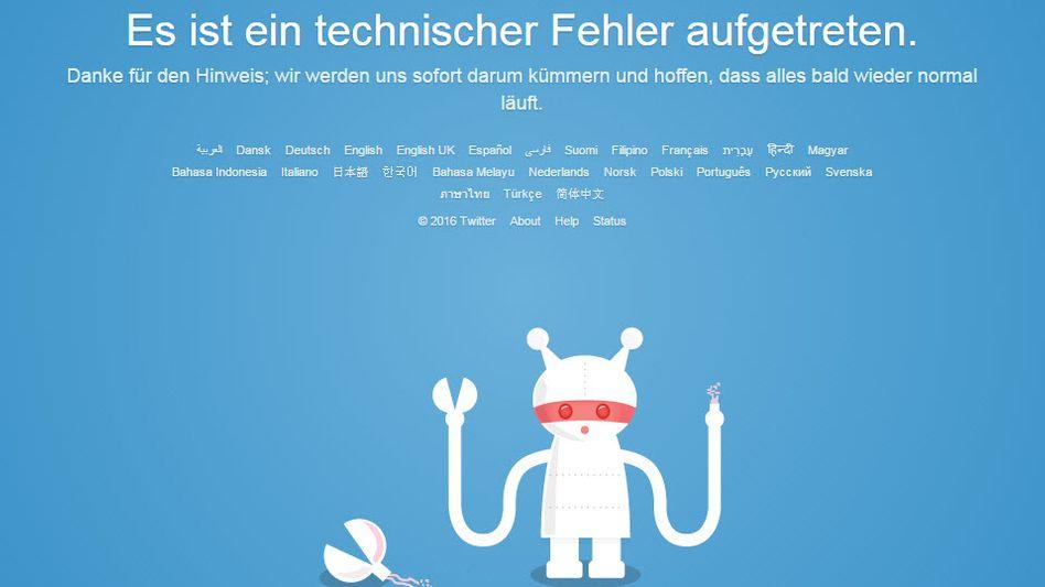 Twitter-Fehlermeldung: Für einige User geht nichts mehr