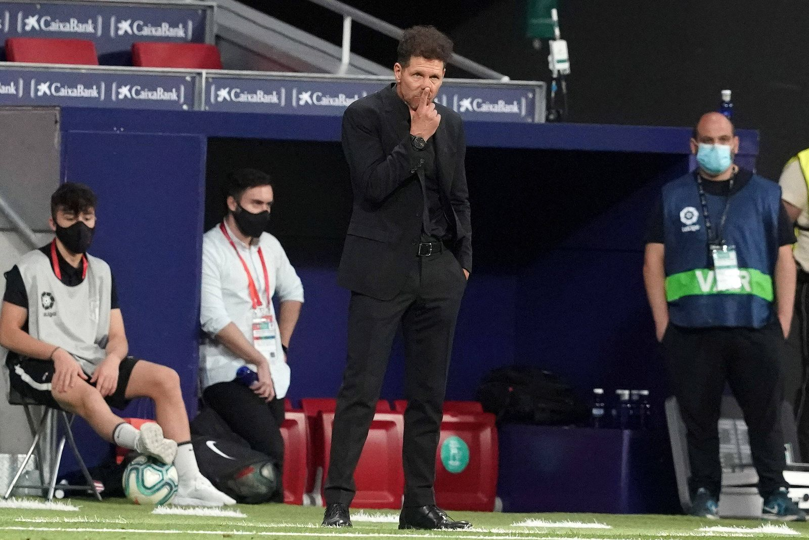Atletico de Madrid s coach Diego Pablo Cholo Simeone during La Liga match. July 3,2020. (20200703812)