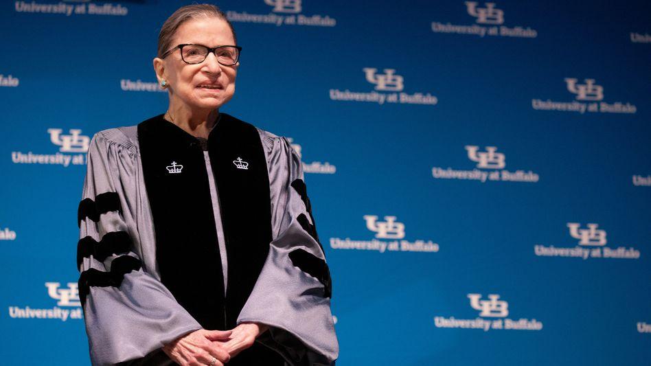 Bader Ginsburg im Jahr 2019: Beerdigung auf dem Nationalfriedhof Arlington
