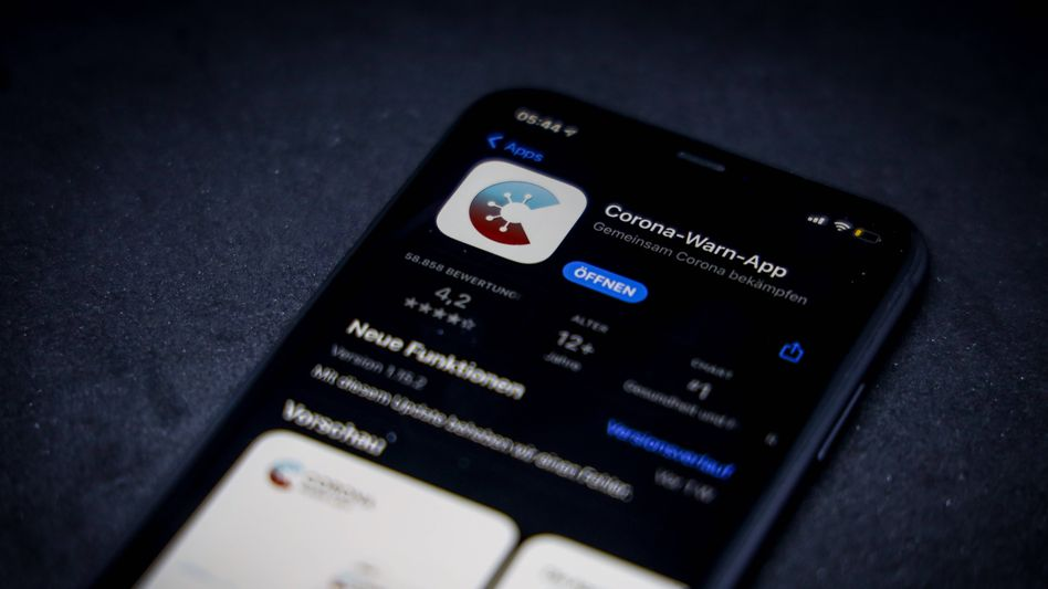 Corona-Warn-App auf einem Iphone