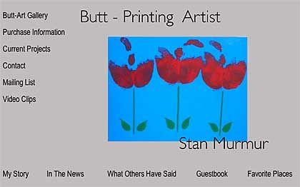 Murmer-Werk: Der Po-Künstler gestaltet gern Schmetterlinge oder Blumen