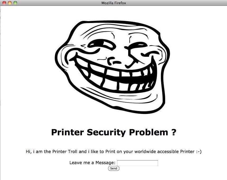 NUR ALS ZITAT Printer / Ohm / Trollface