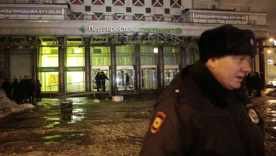 Der Tatort: Supermarkt der Kette Perekrjostok in St. Petersburg