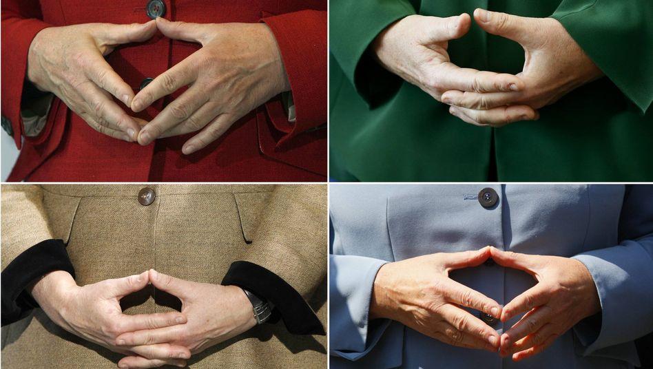 Berühmte Geste: Diese Handhaltung Angela Merkels hat mittlerweile sogar einen eigenen Artikel in der Wikipedia