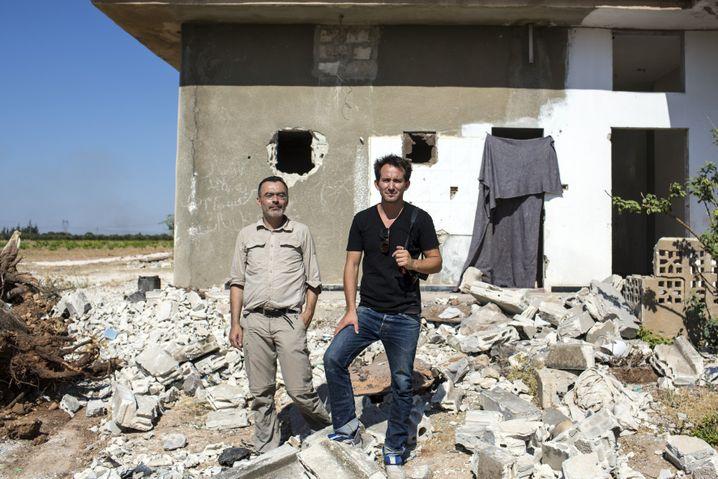 Reuter (l.) und Mettelsiefen in Syrien