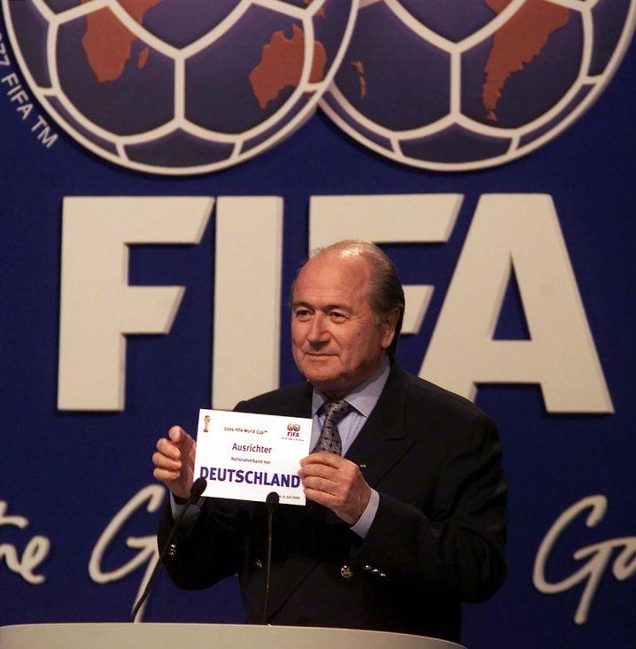 Fifa-Chef Blatter am 6. Juli 2000 in Zürich