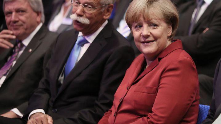 Kanzlerin Merkel: Offenes Ohr für die Autobosse
