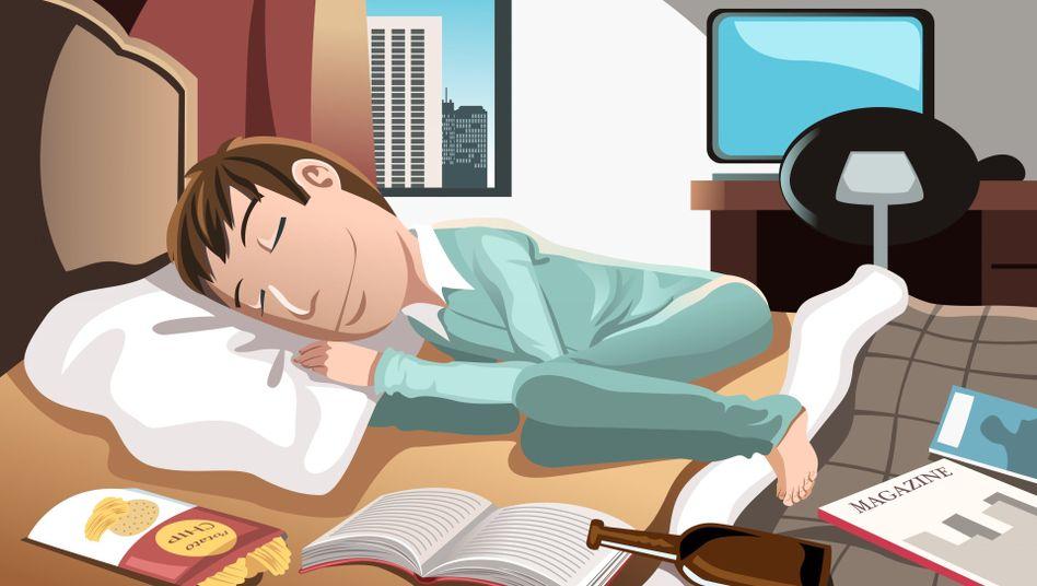 """Zufriedener Schlaf: """"Wir werden in der Nacht fünf bis zwanzig mal wach"""""""