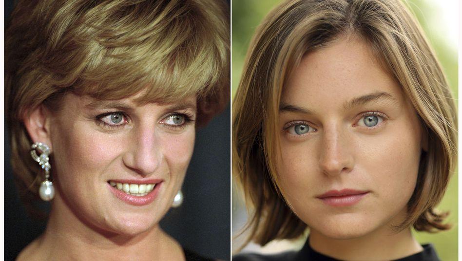 Emma Corrin (r) wird Prinzessin Diana spielen