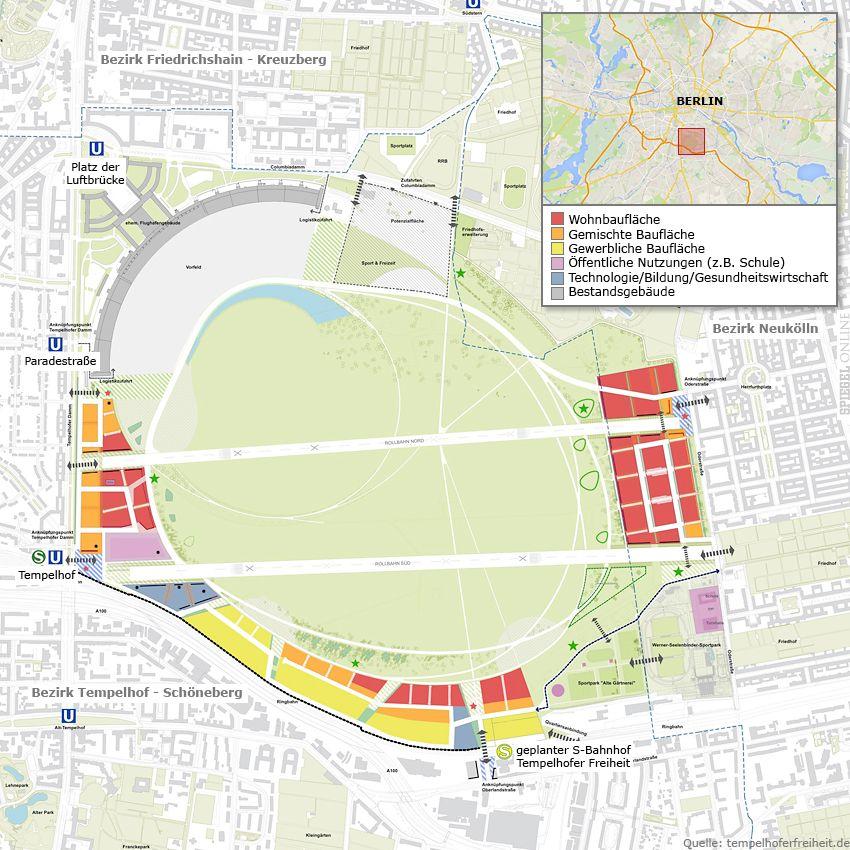 Grafik - Bebauungsplan Berlin Tempelhof