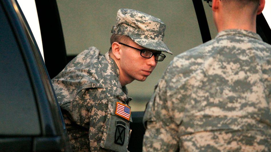 Angeklagter Manning (Archivbild vom Dezember 2011): Teilgeständnis vor Militärgericht
