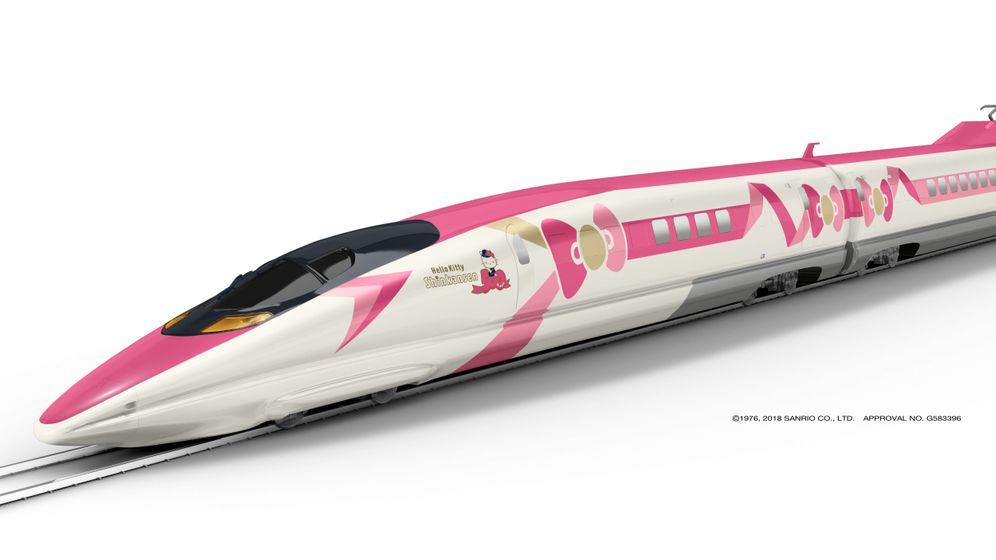 Shinkansen im Kätzchenlook: Hello, Kitty! Und weg...
