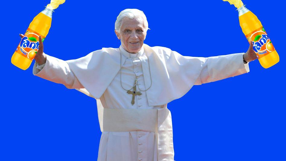 """Titelbild der """"Titanic""""-Homepage: Der Papst als Fanta-Fan"""