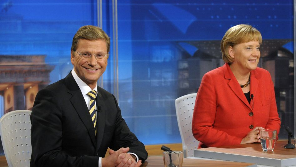 Angela Merkel (right) of the Christian Democrats and Guido Westerwelle (left) of the Free Democratic Party are expected to become Germany's next chancellor and vice chancellor after Sunday's election victory.
