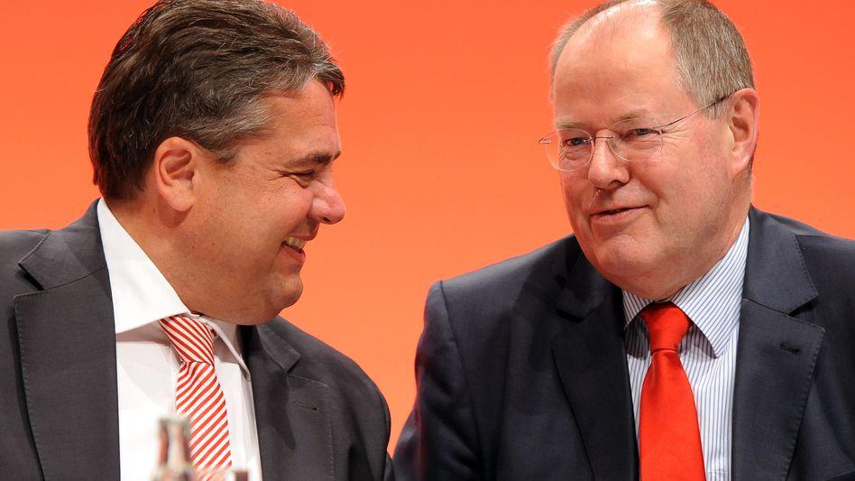 Sozialdemokraten Gabriel, Steinbrück: 80 Milliarden pro Jahr für Deutschland