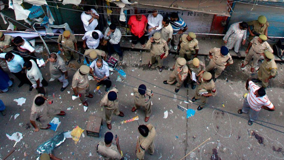 Nach einem Bombenanschlag in Delhi (2008)