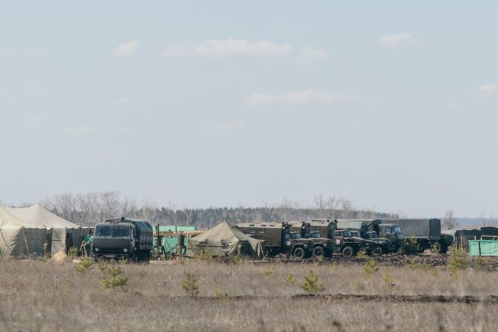 The military camp on the outskirts of Voronezh