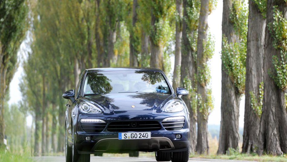 Ein Porsche Cayenne auf der Insel Reichenau: Kein Fahrzeugsegment wächst so schnell wie das der SUV