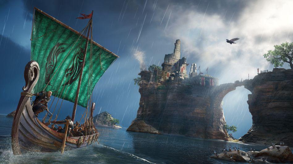 """Werbebild zu """"Assassin's Creed: Valhalla"""": Kein echtes Wikinger-Abenteuer ohne Steilküsten und Langschiffe"""