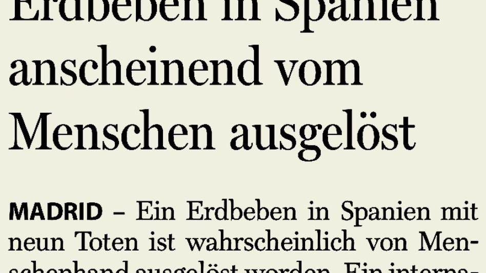 Aus der »Berliner Morgenpost«