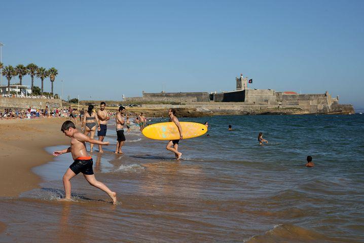 Strand in der Nähe von Lissabon