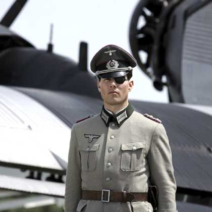 U.S. actor Tom Cruise dressed in his role as Nazi German Col. Claus von Stauffenberg during the production of 'Valkyrie', near Berlin.