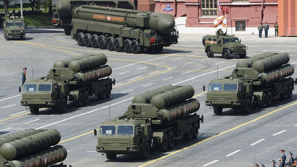 Russische S-400-Flugabwehrraketen in Moskau (Archivbild)