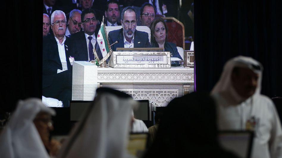 Moas al-Chatib in Doha: Erstmals spricht ein Assad-Gegner für Syrien bei der Arabischen Liga