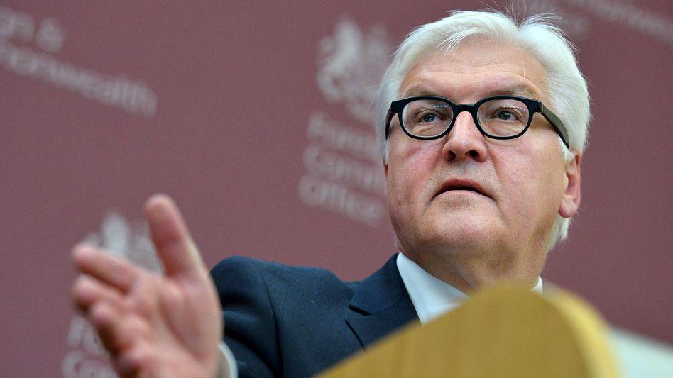 Steinmeier im Februar in London: Die Briten in der EU halten
