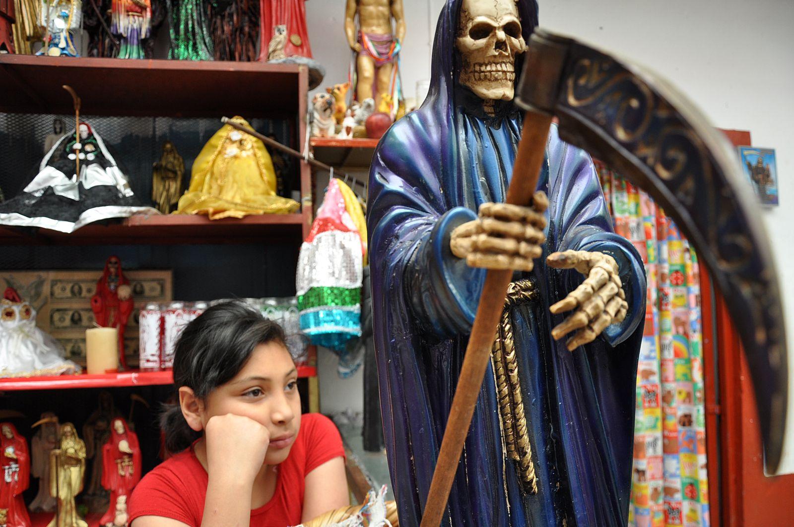 EINMALIGE VERWENDUNG Santa Muerte/ Mexiko