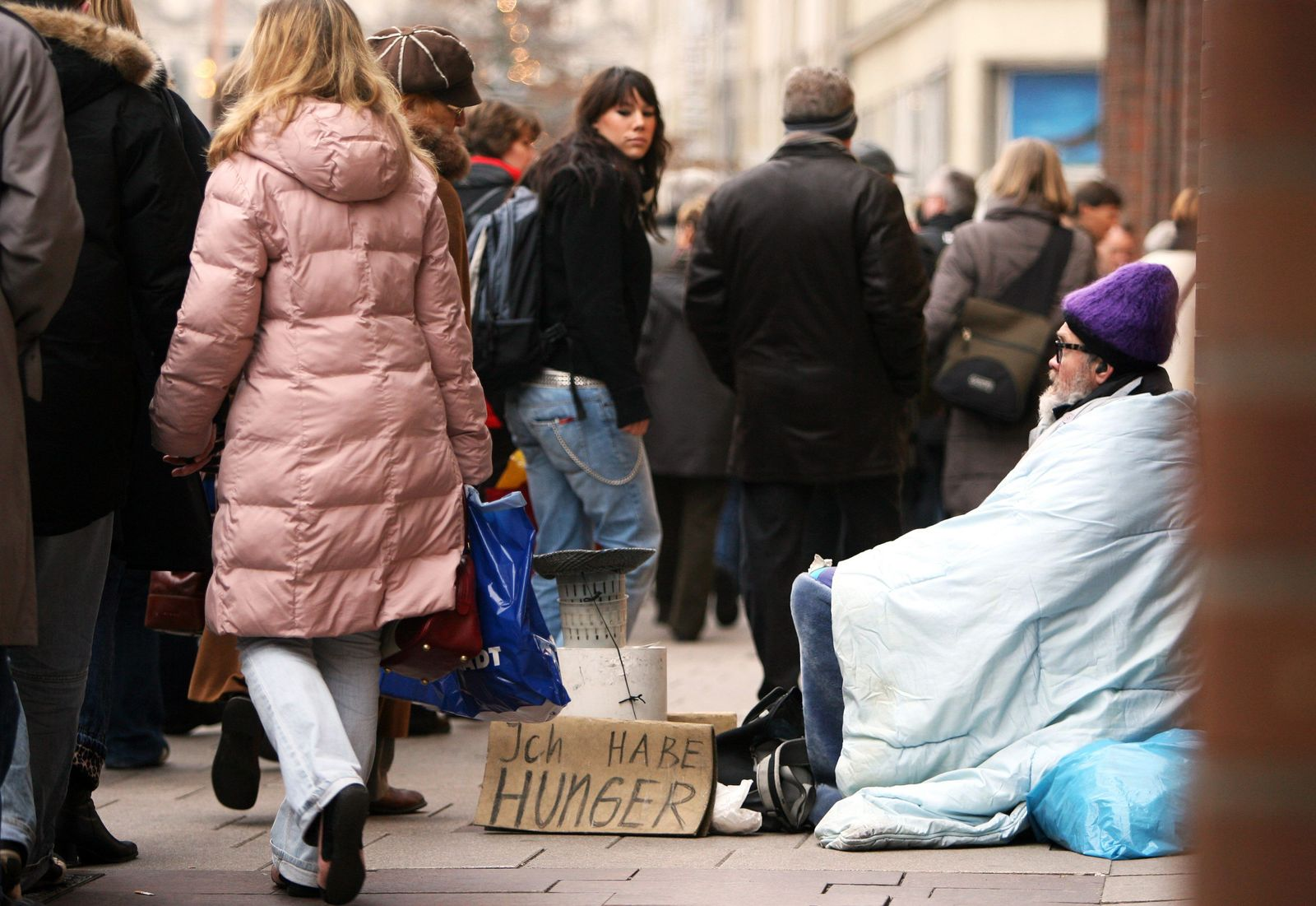 Deutschland / Armut / Bettler / Hamburger Innenstadt