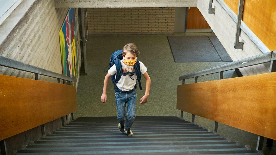 Schüler mit Alltagsmaske (Symbol): Ausführungen »zu unbestimmt«