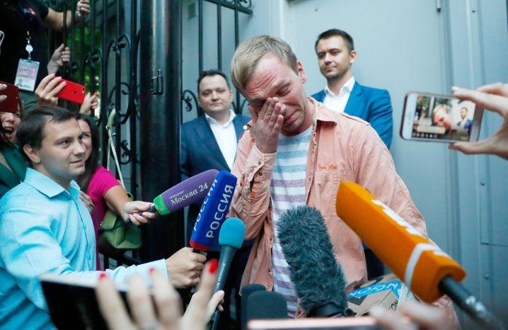 Iwan Golunow nach seiner Freilassung