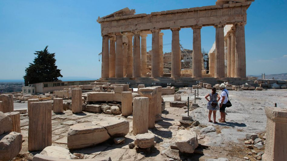 The Parthenon temple in Athens.