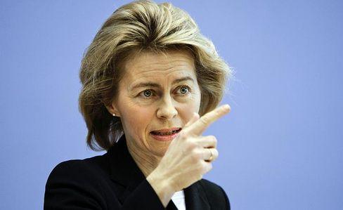 """Familienministerin von der Leyen: """"Ein Grund zur Zuversicht"""""""