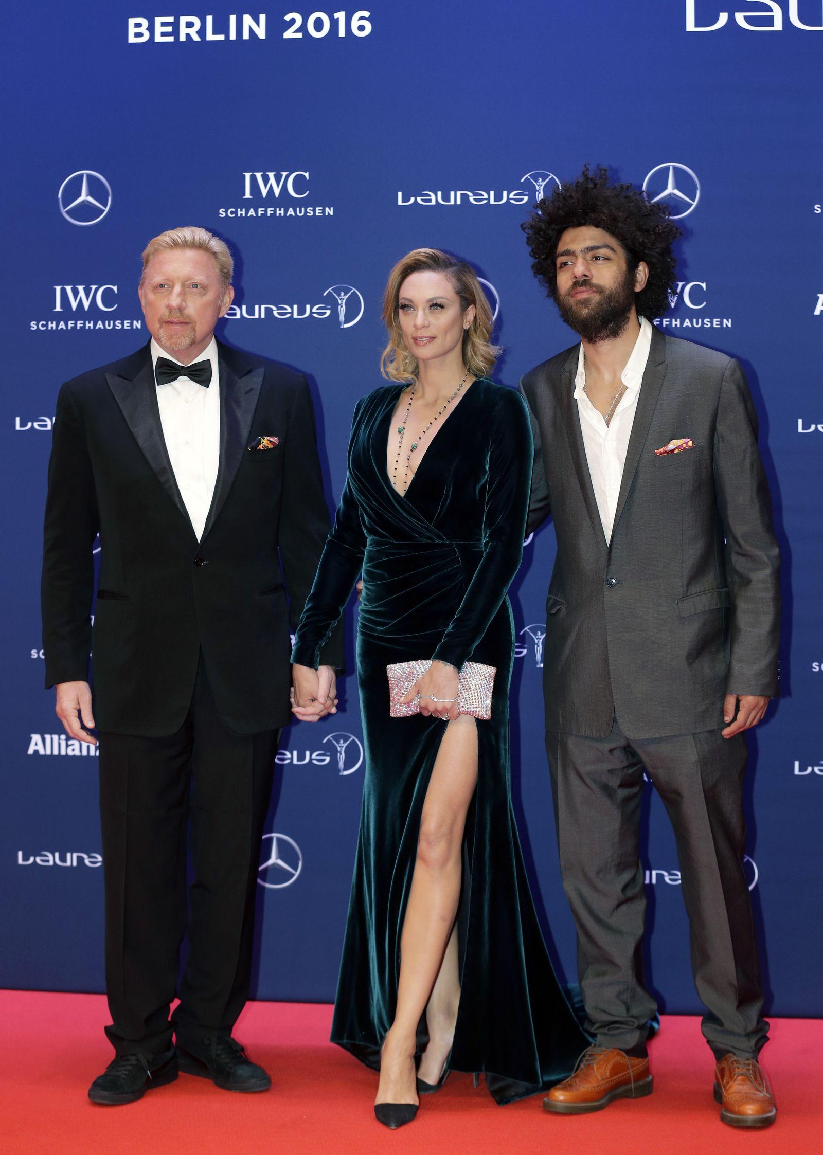 Boris Becker, Lilly Becker and Noah Becker