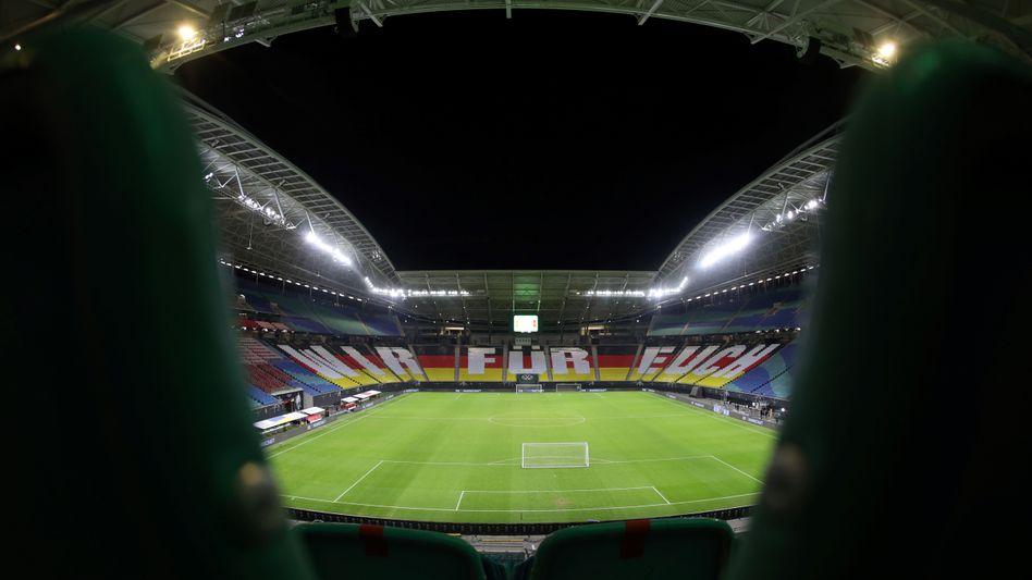 Die Arena in Leipzig, wo die Partie stattfindet