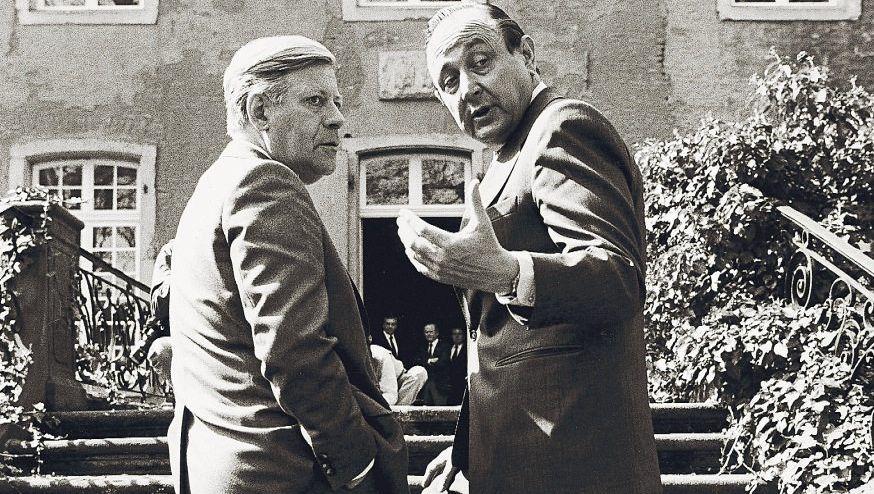Politiker Schmidt, Genscher 1981