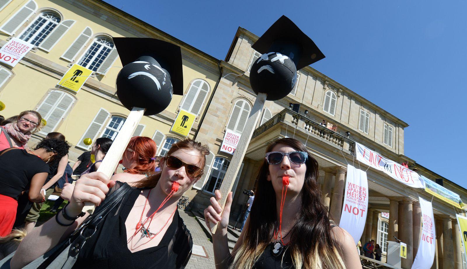 Unis in Not / Studenten- Demo / Hohenheim