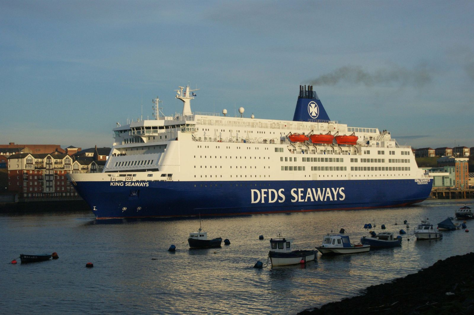 Several passengers injured after fire on cruise ferry between New