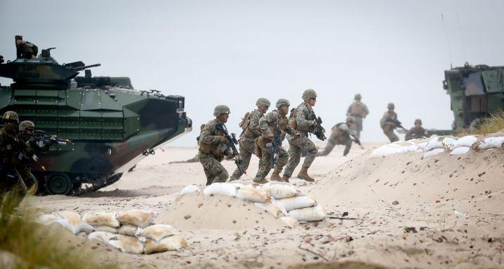 US-amerikanische Nato-Soldaten bei einem Manöver in Polen