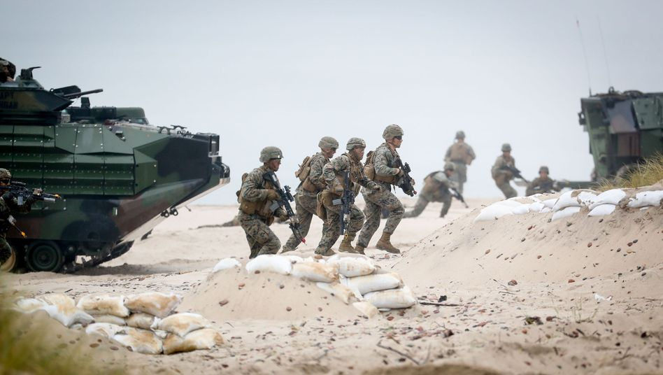 Nato-Soldaten bei Manöver in Polen