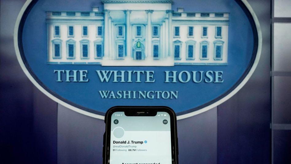 Gesperrtes Twitterkonto von Donald Trump (im Januar 2021)