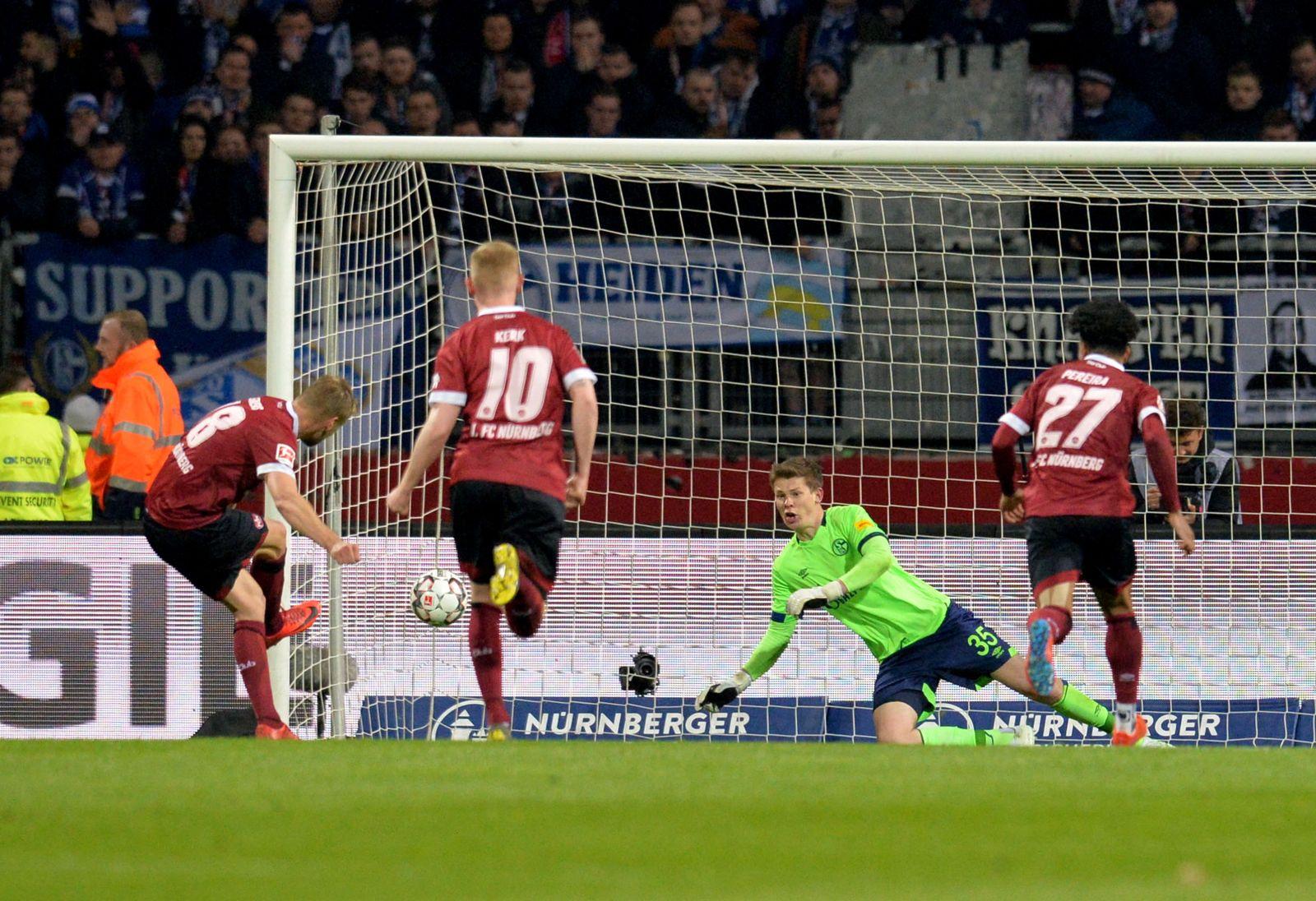 1. FC Nürnberg - FC Schalke 04 Behrens Nübel
