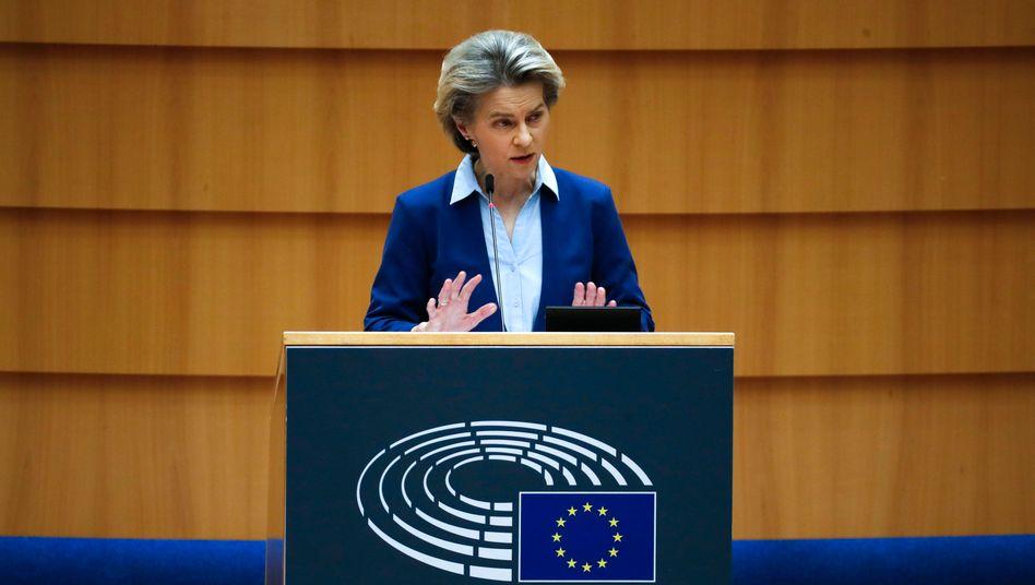 Kommissionspräsidentin Ursula von der Leyen: Es überstieg ihre Kräfte, Nein zu sagen