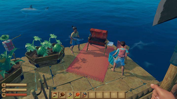 »Raft« inszeniert den Überlebenskampf auf offener See als Bastelabenteuer für einen bis vier Spieler