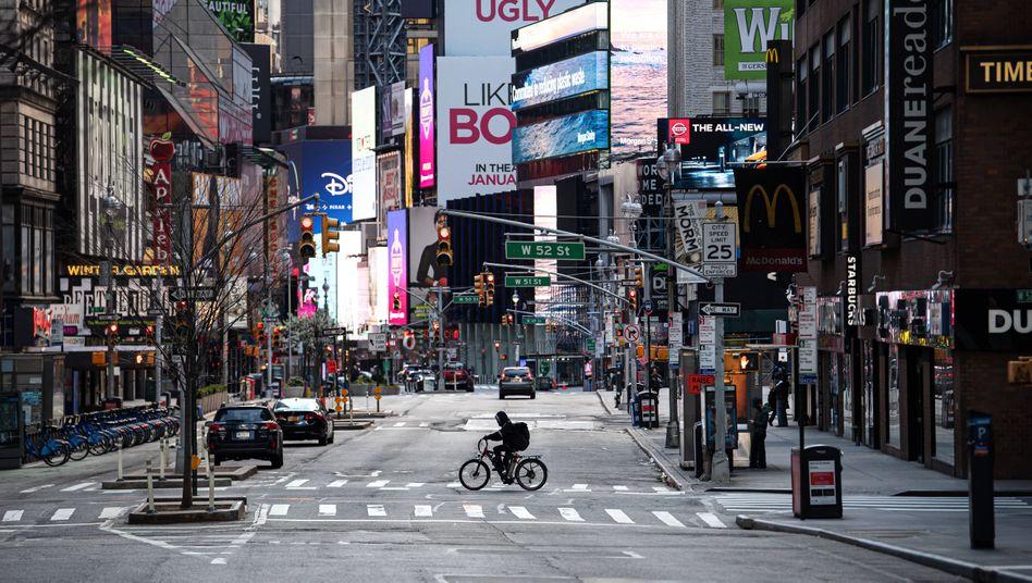 Seit März läuft nichts mehr: Verlassenes Theaterviertel am Times Square