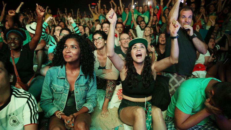 Brasilianische Fans beim Fußballfinale