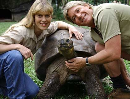 Harriet, der Zoochef und seine Frau: Die Schildkröte war die Hauptattraktion