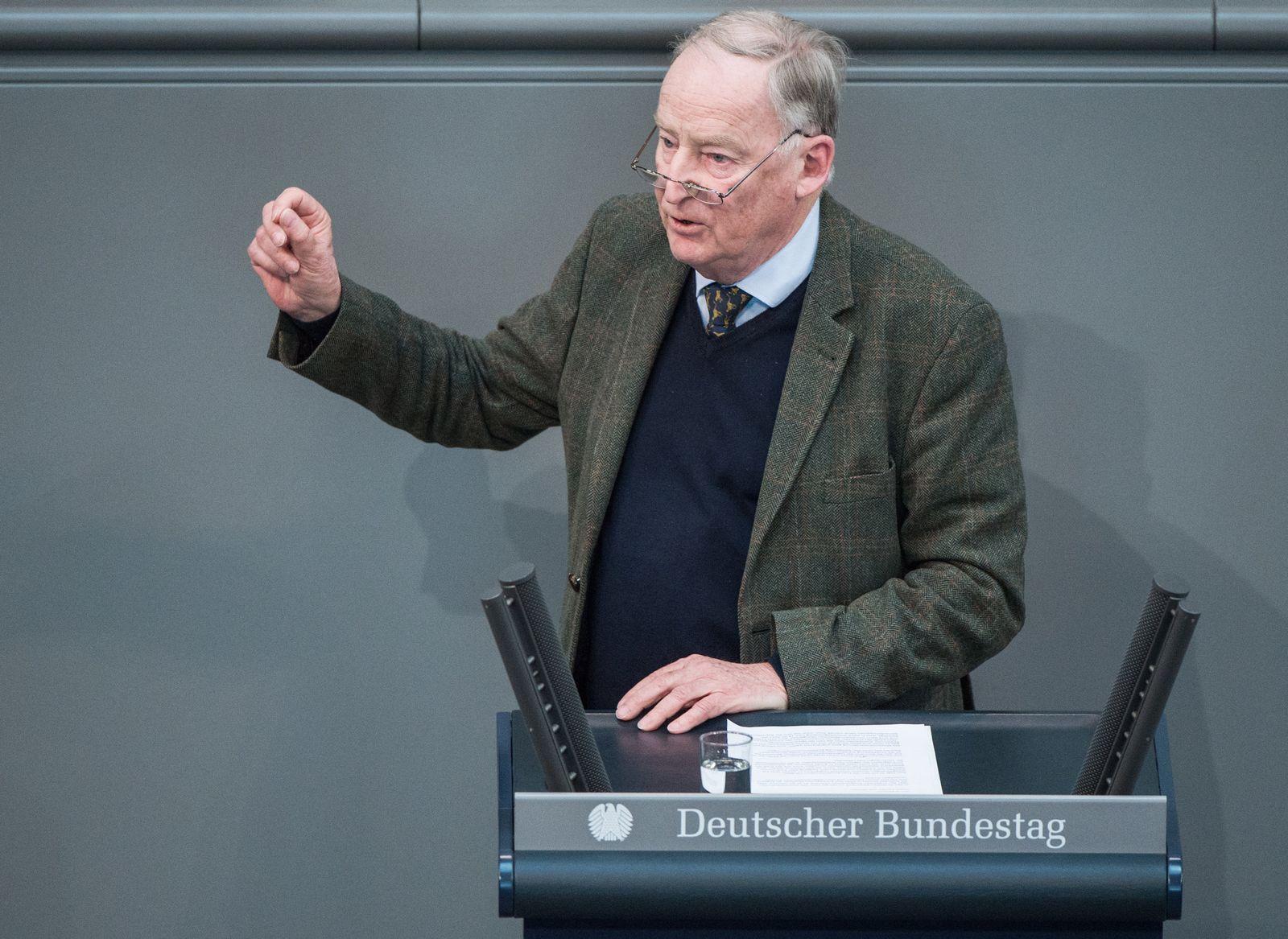 Regierungserklärung/ Bundestag/ Gauland